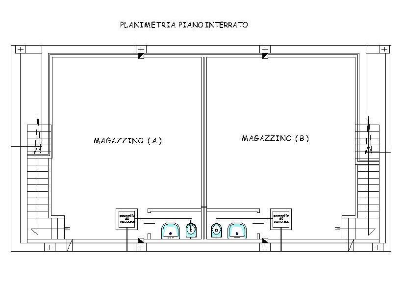 Planimetria Piano Interrato Portixeddu Service S R L